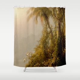 Frederick Edwin Church - Morning in the Tropics Shower Curtain