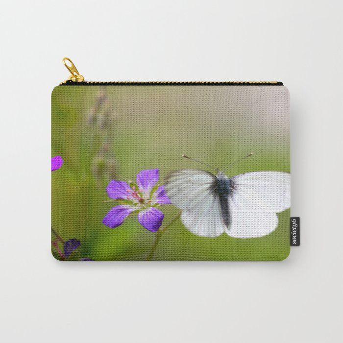 White Butterfly Natural Background Carry-All Pouch