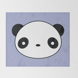 Kawaii And Cute Panda Throw Blanket