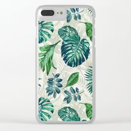 Lush Greens Clear iPhone Case