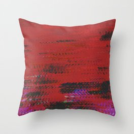 crimson wave Throw Pillow