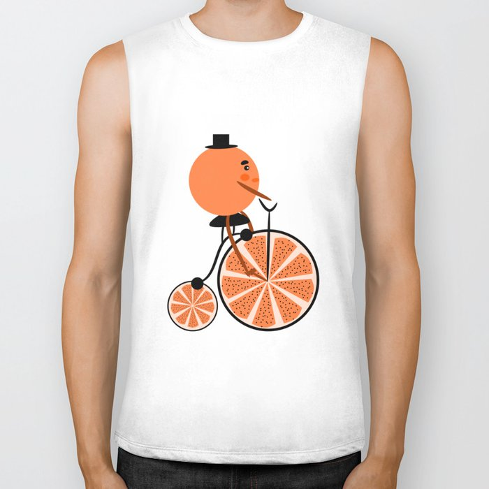 Orange ride Biker Tank