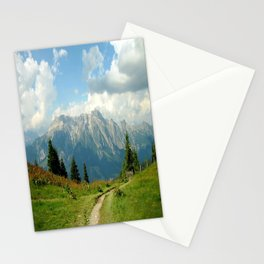 Mountain Range in Austria Stationery Cards