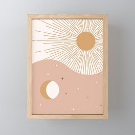 Yin Yang Blush - Sun & Moon Framed Mini Art Print