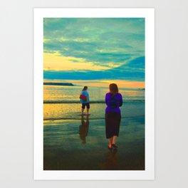 Beach Chillaxing Art Print