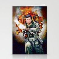 jfk Stationery Cards featuring Zombieland: JFK by Richard Michaud