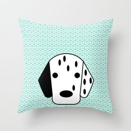 Pop Dog Dalmatian Throw Pillow