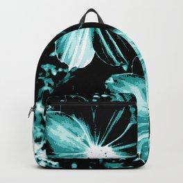 Teal Flowers Backpack