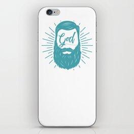 Beard God iPhone Skin