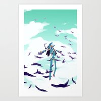 flcl Art Prints featuring FLCL by sarlisart