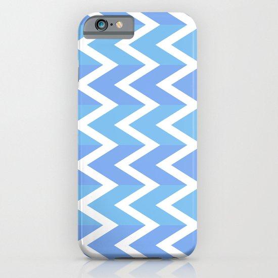 Blue Chevron Pattern iPhone & iPod Case