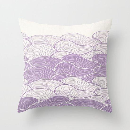 The Lavender Seas Throw Pillow