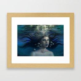 Underwater Girl #1 Framed Art Print