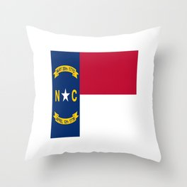 flag of north carolina-south,america,usa,Old North State,Tar Heel,North Carolinian,Charlotte,Raleigh Throw Pillow