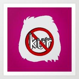 Dun Kur Bear [Don't Care Bear Pink] Art Print