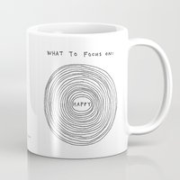 focus Mugs featuring What to focus on by Marc Johns