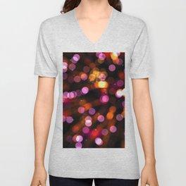 Fireworks Pink (Color) Unisex V-Neck