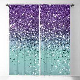 Purple Teal Mermaid Ocean Glitter #1 (Faux Glitter) #shiny #decor #art #society6 Blackout Curtain