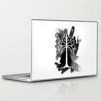 gondor Laptop & iPad Skins featuring White Tree Of Gondor by Icarusdie