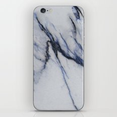 Marble - Blue and Black Marble Crackle iPhone & iPod Skin