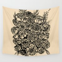 wedding Wall Tapestries featuring Wedding Flowers  by Felicia Cirstea