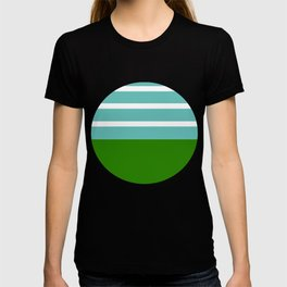 Summer Delight, teal, white and green T-shirt
