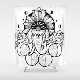Hella Elephant Shower Curtain