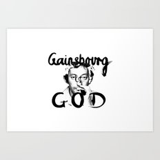 Gainsbourg Art Print