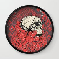 religion Wall Clocks featuring Occult Religion by Tshirt-Factory