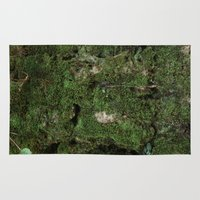moss Area & Throw Rugs featuring moss by Gabe Brison