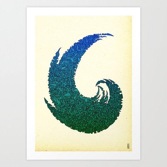 - summer wave - Art Print