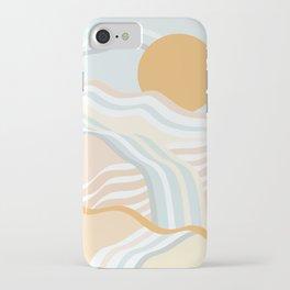 Retro Rainbow Summer Waves iPhone Case