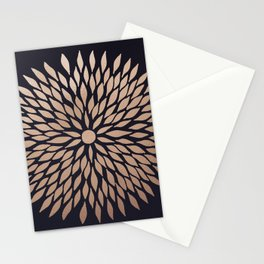Rose Gold Flower Stationery Cards