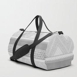 Dutch Wax Tribal Print in Grey Duffle Bag