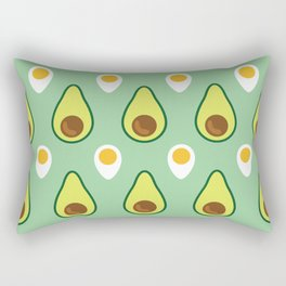 Avocado & Egg Rectangular Pillow