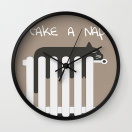 [Quotes] Napping Cat Wall Clock