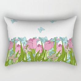 Pink tulips . Spring. Rectangular Pillow