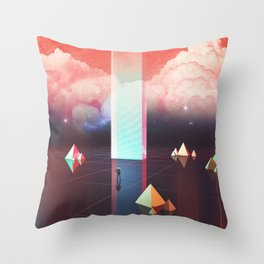 Low cost time travel Throw Pillow