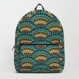 Persian Fans Mosaic Dark Rainbow Backpack