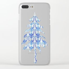 Winter Reindeer Clear iPhone Case