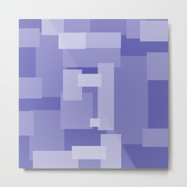Matted Purple - Color Therapy Metal Print