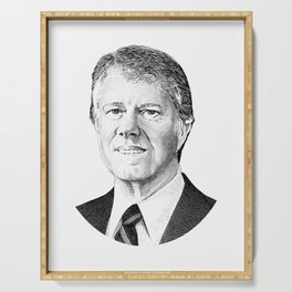 President Jimmy Carter Graphic Serving Tray