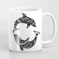 dolphins Mugs featuring Dolphins by Emma Barker