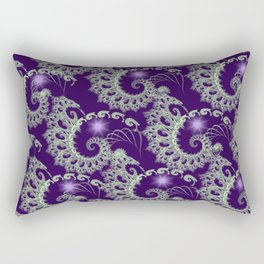 Purple Nautilus Fractals Rectangular Pillow