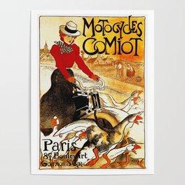 Vintage Comiot Motorcycle Ad - Paris Poster