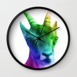 Rainbow Goat Wall Clock