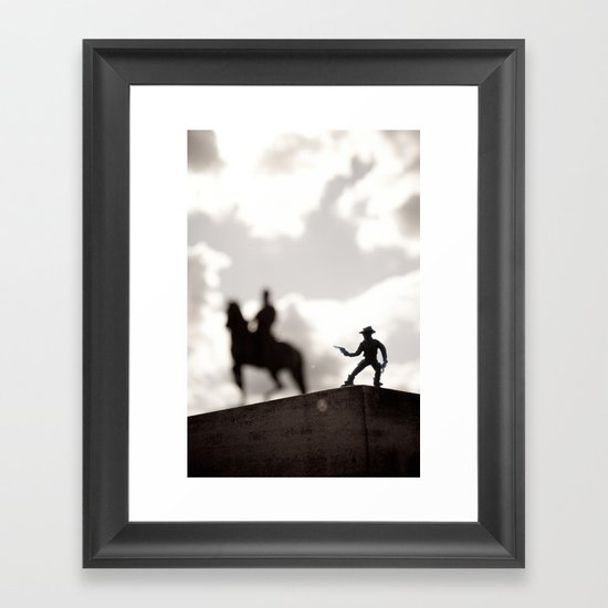 The Cowboy - Toy photography Framed Art Print