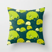 dragons Throw Pillows featuring dragons by lisenok
