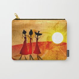 Africa retro vintage style design illustration Carry-All Pouch