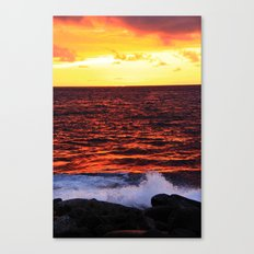 Red Red Sunset Canvas Print